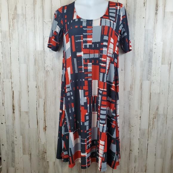 LBISSE Dresses & Skirts - LBISSE Dress Multi-Colored Short Sleeve A-Line